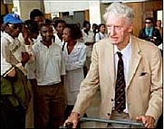 Author photo. Ian Smith, Harare Airport, 2000. Photo by user BScar23625 / Wikipedia.