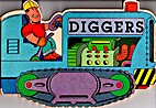 Diggers Shaped Board Book by Penny Morris