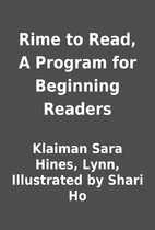 Rime to Read, A Program for Beginning…