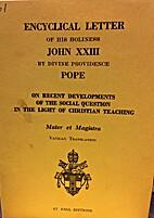 Christianity and Social Progress (Mater et…