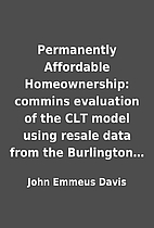 Permanently Affordable Homeownership:…