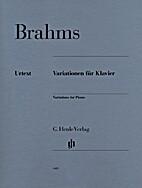 Variationen für Klavier by Johannes Brahms