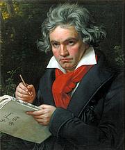 Author photo. Ludwig van Beethoven while composing <i>Missa Solemnis</i>, c. 1820. Portrait by Joseph Karl Stieler (1781–1858).