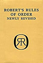 Robert's Rules of Order - Newly Revised…
