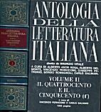Antologia della letteratura italiana Volume…