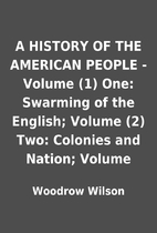 A HISTORY OF THE AMERICAN PEOPLE - Volume…