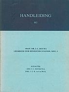 Handleiding bij prof. dr. J.L. Bouma…