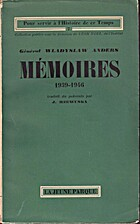 Mémoires (1939-1946) by Wladyslaw Anders