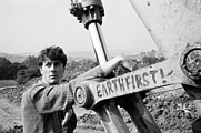 Author photo. Kingsnorth protesting the construction of a bypass near Bath in 1994