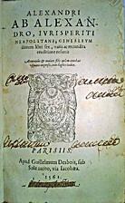Alexandri ab Alexandro, iurisperiti…