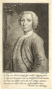 Author photo. Engraving (1756) by P. Tanjé after a portrait by Des Angeles
