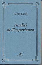 Analisi dell'esperienza by Paolo Landi