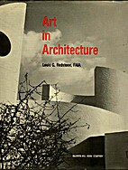 Art in architecture by Louis G. Redstone