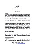 Notes Luke by Thomas L. Constable