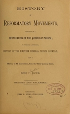 History of reformatory movements resulting…