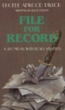 File for Record by Phoebe Atwood Taylor