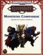 Monstrous Compendium Appendix III: Creatures…