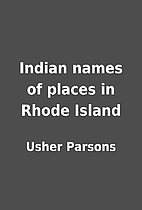 Indian names of places in Rhode Island by…