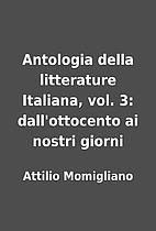Antologia della litterature Italiana, vol.…