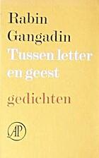 Tussen letter en geest gedichten by Rabin…
