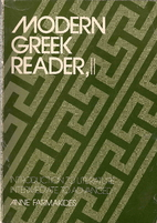 Modern Greek Reader, II: Introduction to…