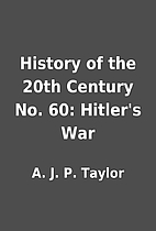 History of the 20th Century No. 60: Hitler's…