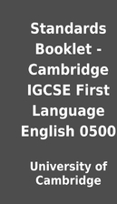 Standards Booklet - Cambridge IGCSE First…