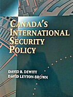 Canada's international security policy by…