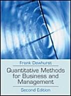 Quantitative Methods for Business Management…
