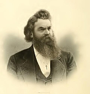 Author photo. Logan Uriah Reavis. Frontispiece from Saint Louis: the future great city of the world ([c1875]).