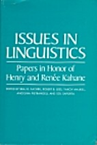 ISSUES IN LINGUISTICS by Braj B. Kachru