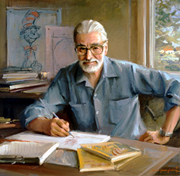 """Author photo. 1982, oil on canvas by Everett Raymond Kinstler (Commissioned by the Trustees of Dartmouth College) Image should not be reproduced or distributed without permission of the <a href=""""http://hoodmuseum.dartmouth.edu/"""">Hood Museum of Art</a>"""