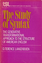 The study of syntax;: The…