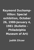 Raymond Duchamp-Villon: Special exhibition,…