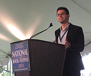 Author photo. Joshua Foer talks about his book, Moonwalking with Einstein, at the National Book Festival, Washington, DC - 2011.