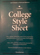 College Style Sheet : Fifth Canadian Edition…