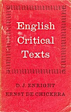 English critical texts 16th century to 20th…