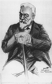 Author photo. From sketch by Paul Renard  <BR>(From &quot;The New York Times Current History Monthly Magazine,&quot; 1915 (Project Gutenberg)