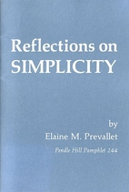 Reflections on simplicity by Elaine M.…