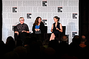 """Author photo. Alexandra Horowitz speaks on a panel about animal emotions and human-animal relations with Frans de Wall and moderator Betsy Herrelko at the National Book Festival, August 31, 2019. Photo by Kimberly T. Powell/Library of Congress. By Library of Congress Life - 20190831KP0199.jpg, CC0, <a href=""""https://commons.wikimedia.org/w/index.php?curid=82899211"""" rel=""""nofollow"""" target=""""_top"""">https://commons.wikimedia.org/w/index.php?curid=82899211</a>"""