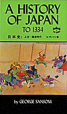 A history of Japan by George Sansom
