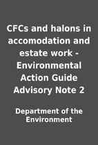 CFCs and halons in accomodation and estate…