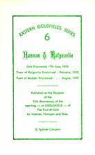 HANNAN & KALGOORLIE (cover title) by G.…