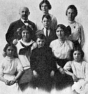 Author photo. The Rev. Solomon L. Ginsburg (back row, left) with his family. Image from <b><i>A wandering Jew in Brazil : an autobiography of Solomon L. Ginsburg</i></b> (1922)