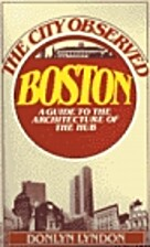 The City Observed: Boston by Donlyn Lyndon