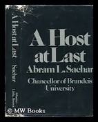 A host at last by Abram Leon Sachar