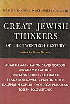 Great Jewish thinkers of the twentieth…