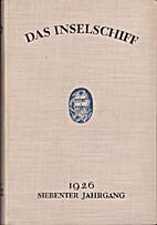 Das Inselschiff Siebenter Jahrgang 1926