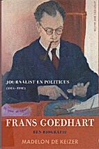 Frans Goedhart, journalist en politicus…