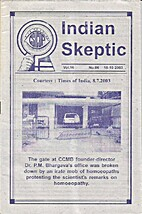 Indian Skeptic Vol. 16 No. 06, 15-10-2003 by…